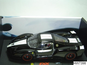Ferrari FXX  Black 1/18 Scale by Hot Wheels ELITE Edition