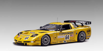 Chevy Corvette C5R 24H LeMans 04 #64-Yellow 1:18 AUTOart RARE new in box rare