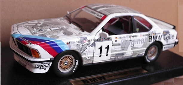 BMW 635CSi racing white #11 1/18 Scale by ANSON #30403 NEW IN BOX MINT CONDITION
