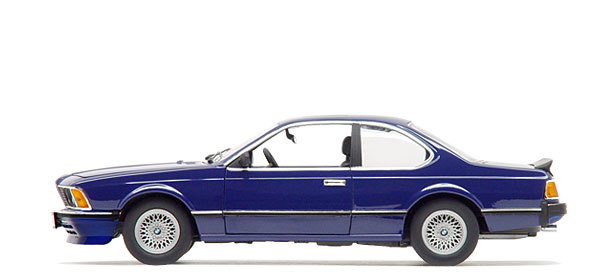 BMW 635CSi BLUE 1/18 Scale by ANSON #30404 NEW IN BOX MINT CONDITION