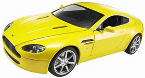 ASTON MARTIN VANTAGE V8 by HOT WHEELS 1:18 YELLOW RARE HARD TO FIND NEW IN BOX