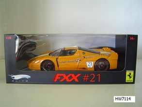 Ferrari FXX  Orange Solar 1/18 Scale by Hot Wheels ELITE Edition