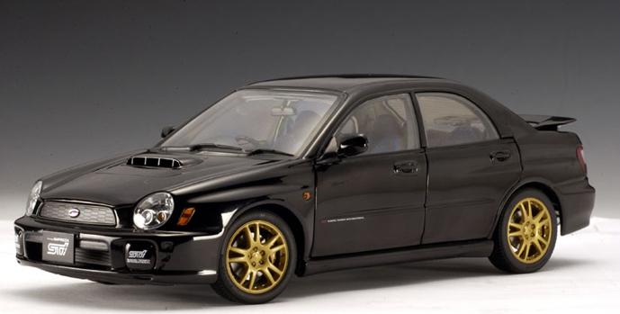 SALE 2001 Subaru WRX STi New Age Sedan 1:18 by AUTOart Black SALE