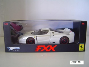 Ferrari FXX  Pearl White 1/18 Scale by Hot Wheels ELITE Edition