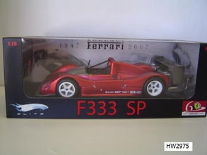 Ferrari F 333 SP Red 60th Special 1/18 Scale by Hot Wheels ELITE Edition