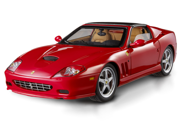 Ferrari Superamerica Red 1/18 Scale by Hot Wheels ELITE Edition