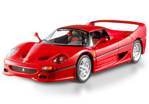 Ferrari F50 Red 1/18 Scale by Hot Wheels ELITE Edition