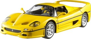 Ferrari F50 Yellow 1/18 Scale by Hot Wheels ELITE Edition