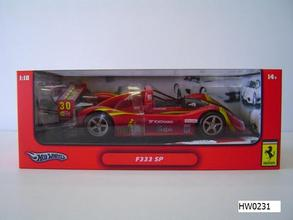 SALE Ferrari F 333 SP Red Dirty Racecar Special 1/18 Scale by Hot Wheels SALE