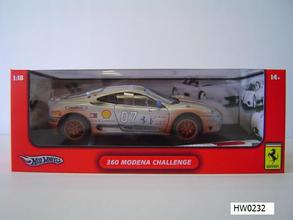 SALE Ferrari 360 Modena Challenge Silver Dirty Racecar Special 1/18 Scale by Hot Wheels SALE