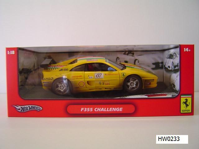 SALE Ferrari F355 Challenge Yellow Dirty Racecar Special 1/18 Scale by Hot Wheels SALE