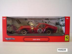 Ferrari 250 GTORed 1/18 Scale by Hot Wheels Dirty Race Car Edition