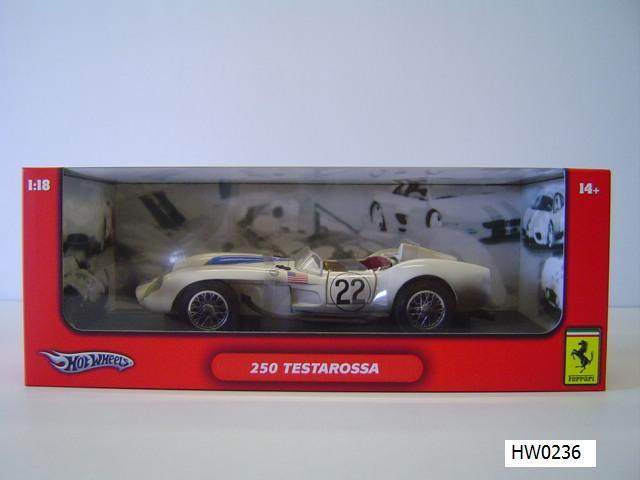 Ferrari 250 Testarossa White 1/18 Scale by Hot Wheels Dirty Race Car Edition