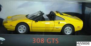 Ferrari 308 GTS Yellow 1/18 Scale by Hot Wheels ELITE Edition