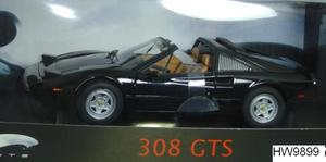 Ferrari 308 GTS Black 1/18 Scale by Hot Wheels ELITE Edition