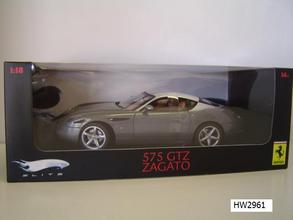 Ferrari F 575 Zagato Gray 1/18 Scale by Hot Wheels ELITE Edition