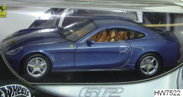 Ferrari 612 Scagletti Blue 1/18 Scale by Hot Wheels