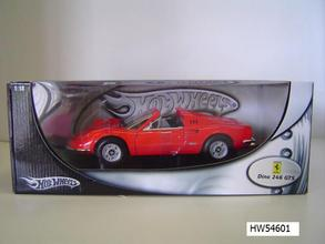 Ferrari 246 Dino GTS Red by Hot Wheels 1/18 Scale
