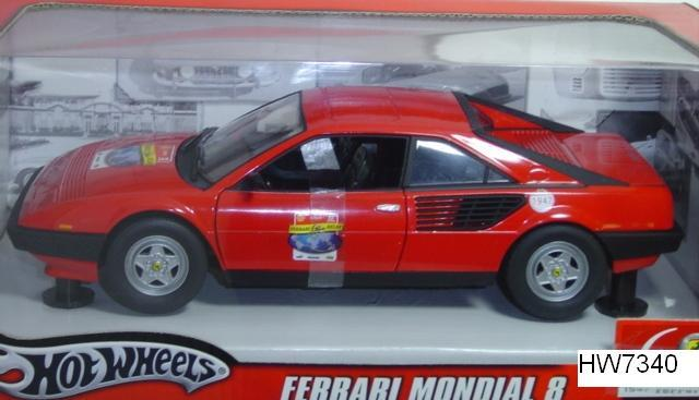 Ferrari Mondial 8 Red by Hot Wheels 60th Relay Edition 1/18 Scale
