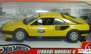 Ferrari Mondial 8 yellow by Hot Wheels 60th Relay Edition 1/18 Scale