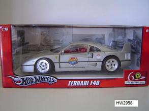 Ferrari F40 Silver by Hot Wheels 60th Relay Edition 1/18 Scale