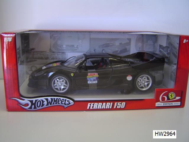 Ferrari F50 Black by Hot Wheels 60th Relay Edition 1/18 Scale