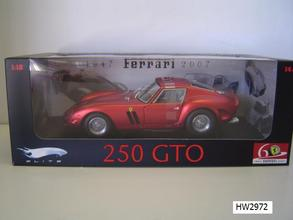 Ferrari 250 GTO Red 60th Special 1/18 Scale by Hot Wheels ELITE Edition