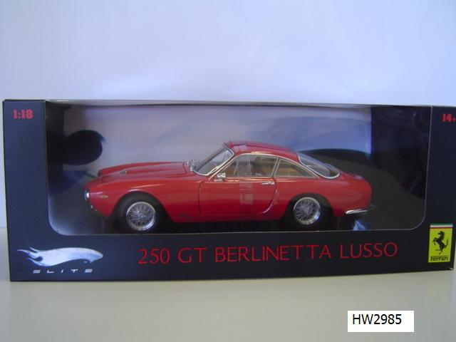Ferrari 250 GT Berlinetta Lusso Red 1/18 Scale by Hot Wheels ELITE Edition
