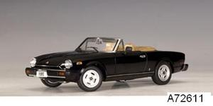 Fiat 124 Spider Black 1/18 scale by AUTOart