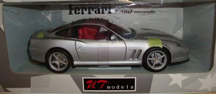 Ferrari 550 Maranello SILVER 1/18th Scale by UT Models