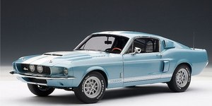 1967 Ford Mustang SHELBY GT500 Cobra Coupe Blue 1:18 Scale by AUTOart