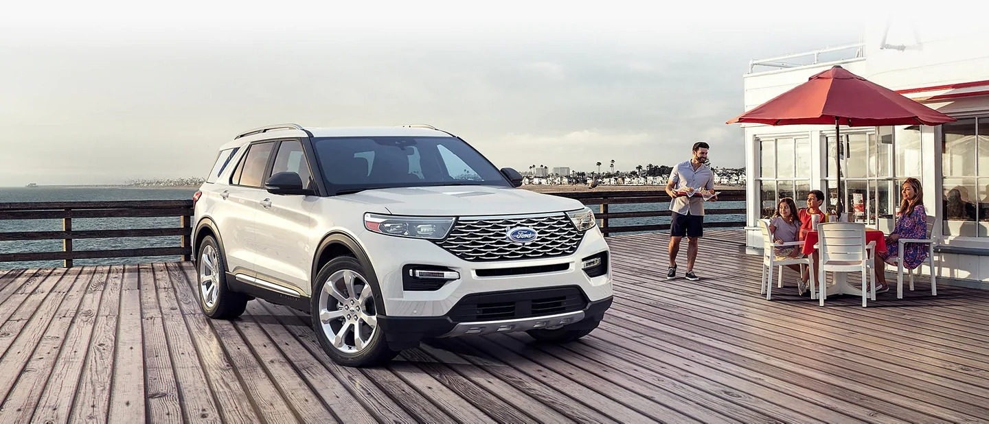 2020 Ford Explorer On A Pier