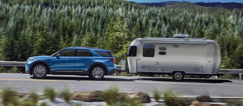 2021 Ford Explorer Hybrid Pulling A Trailer