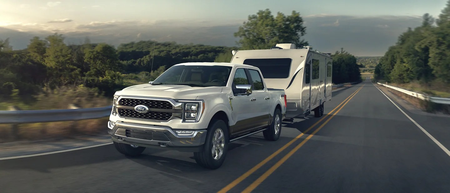 2021 Ford F150 Towing Trailer