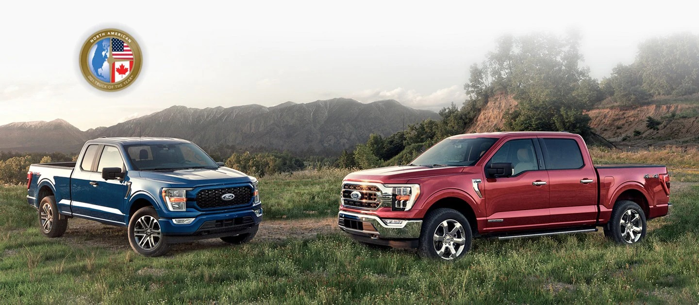 2021 Red & Blue Ford F150