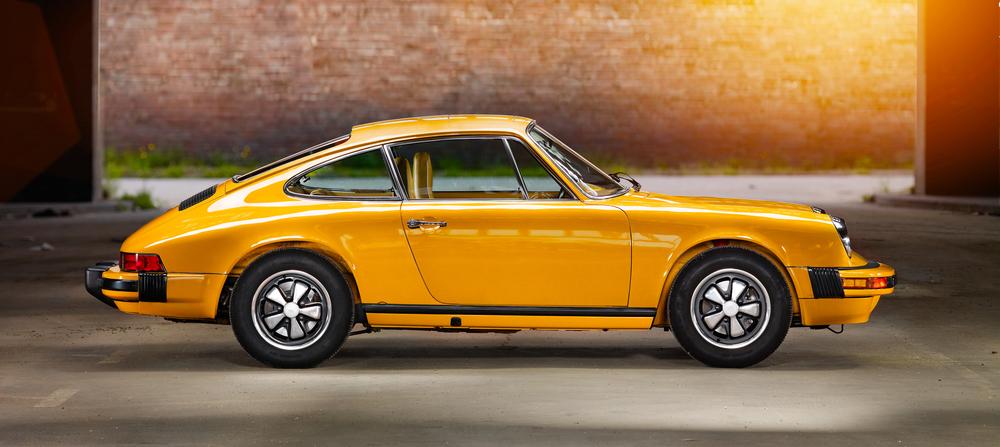 Classic yellow Porsche