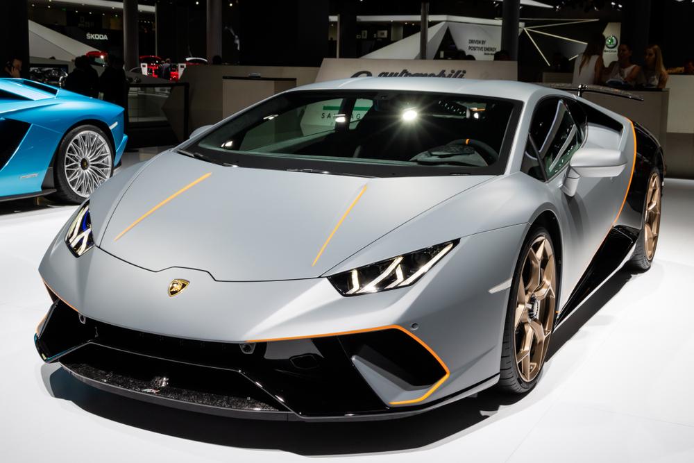 Lamborghini Huracan parked at autoshow