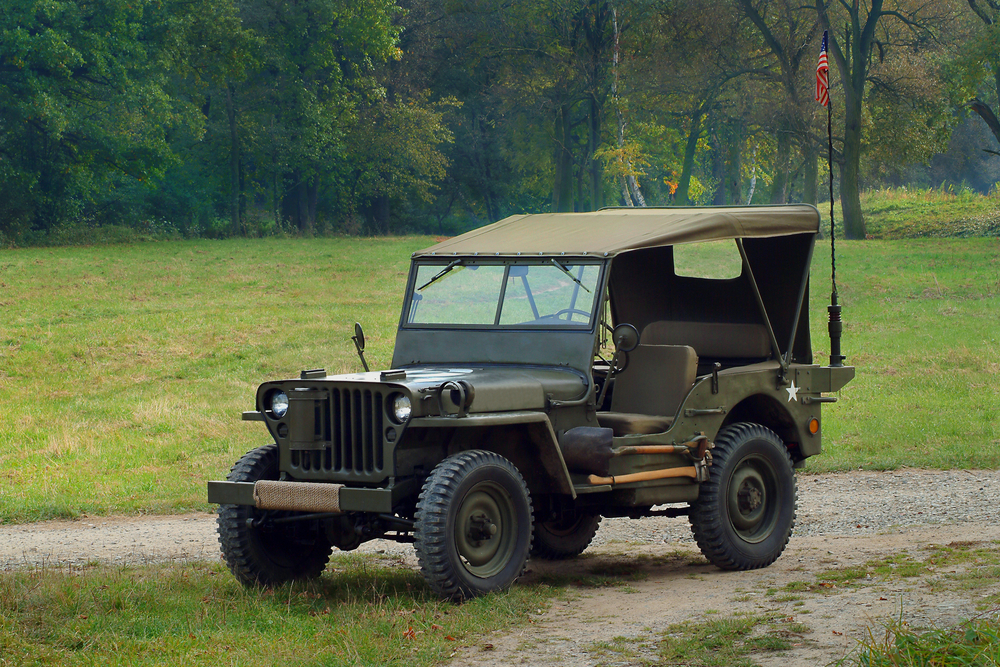 Old army jeep
