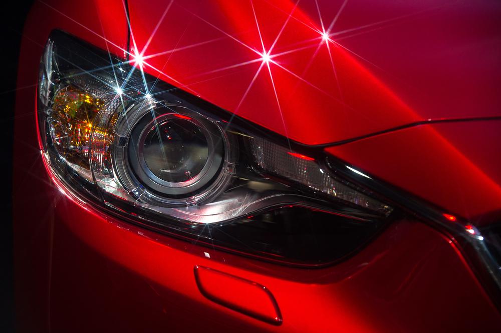 Shiny Red Car