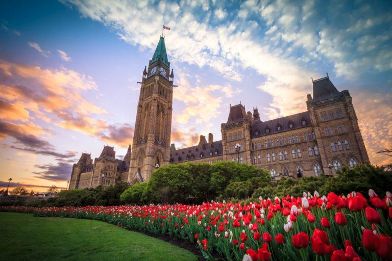 Ottawa Parliament near the best used car dealerships.