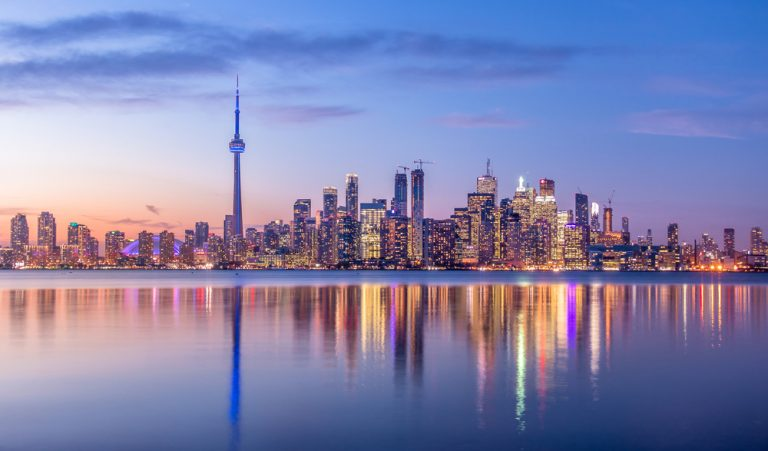 Skyline of Toronto, the best place in Ontario to find used car dealerships.
