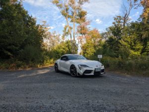 White Toyota 2020 GR Supra in Fall