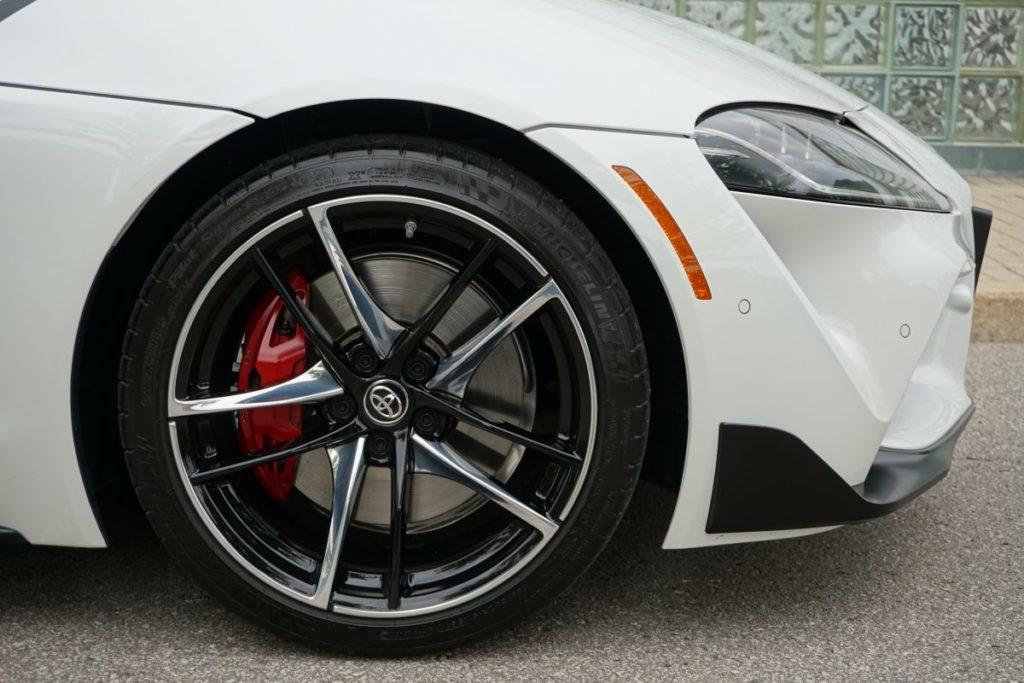 toyota supra brakes close up