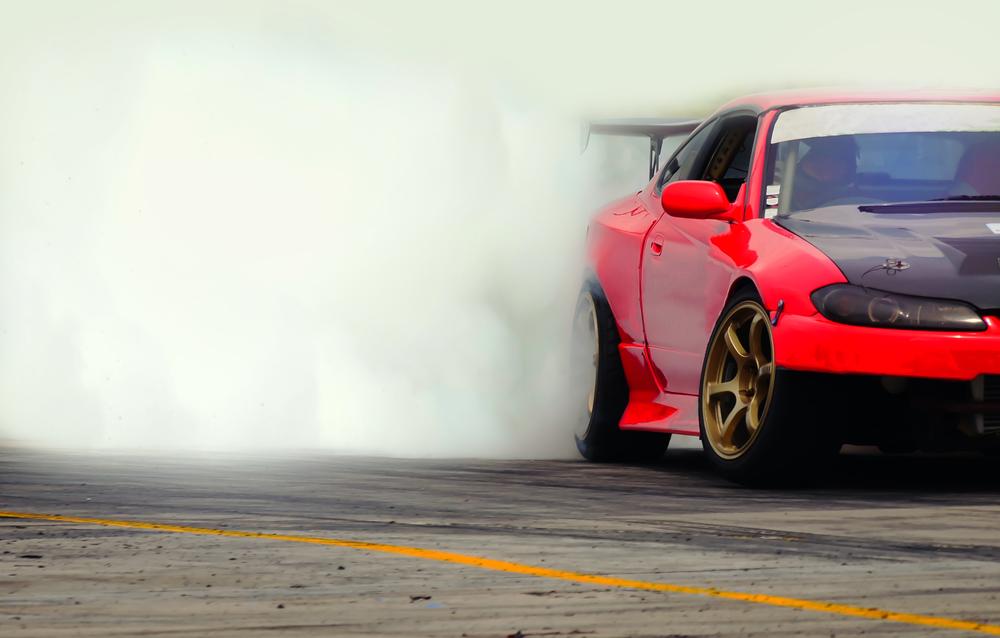 car drifting onr acetrack